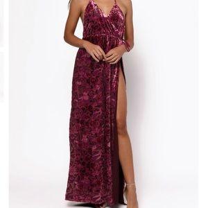 Sexy floral maxi dress